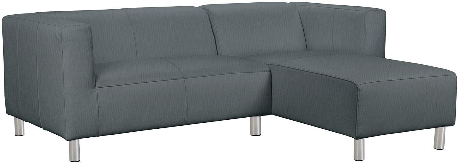 Argos Home Moda Right Corner Fabric Sofa - Grey