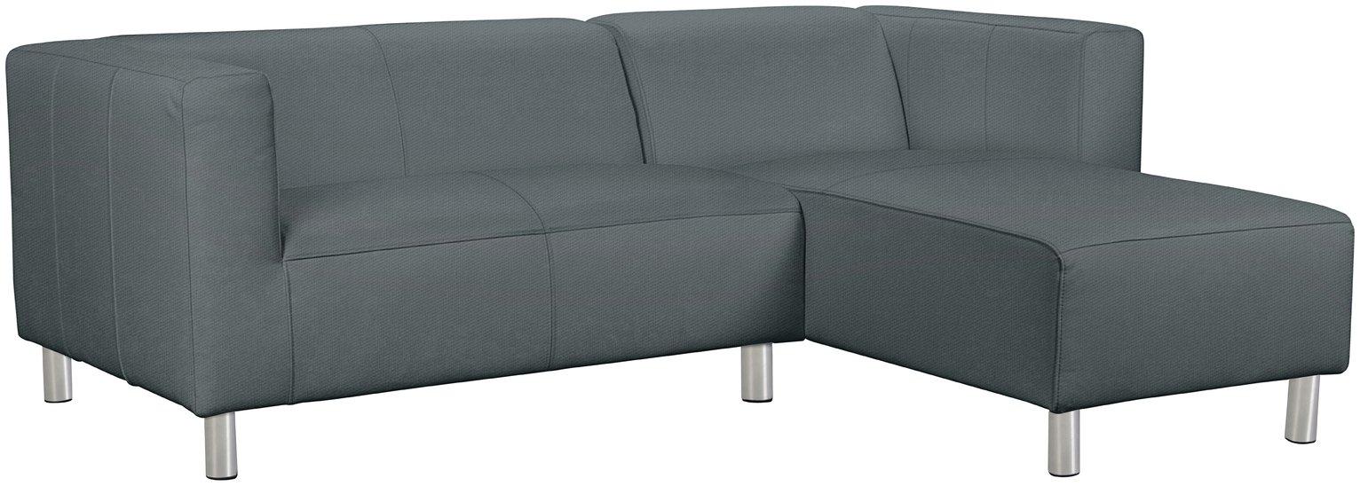 'Home - Moda - Fabric Right Hand Corner Sofa - Grey