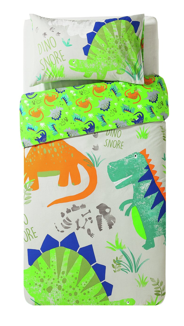 home dinosnore bedding set  single