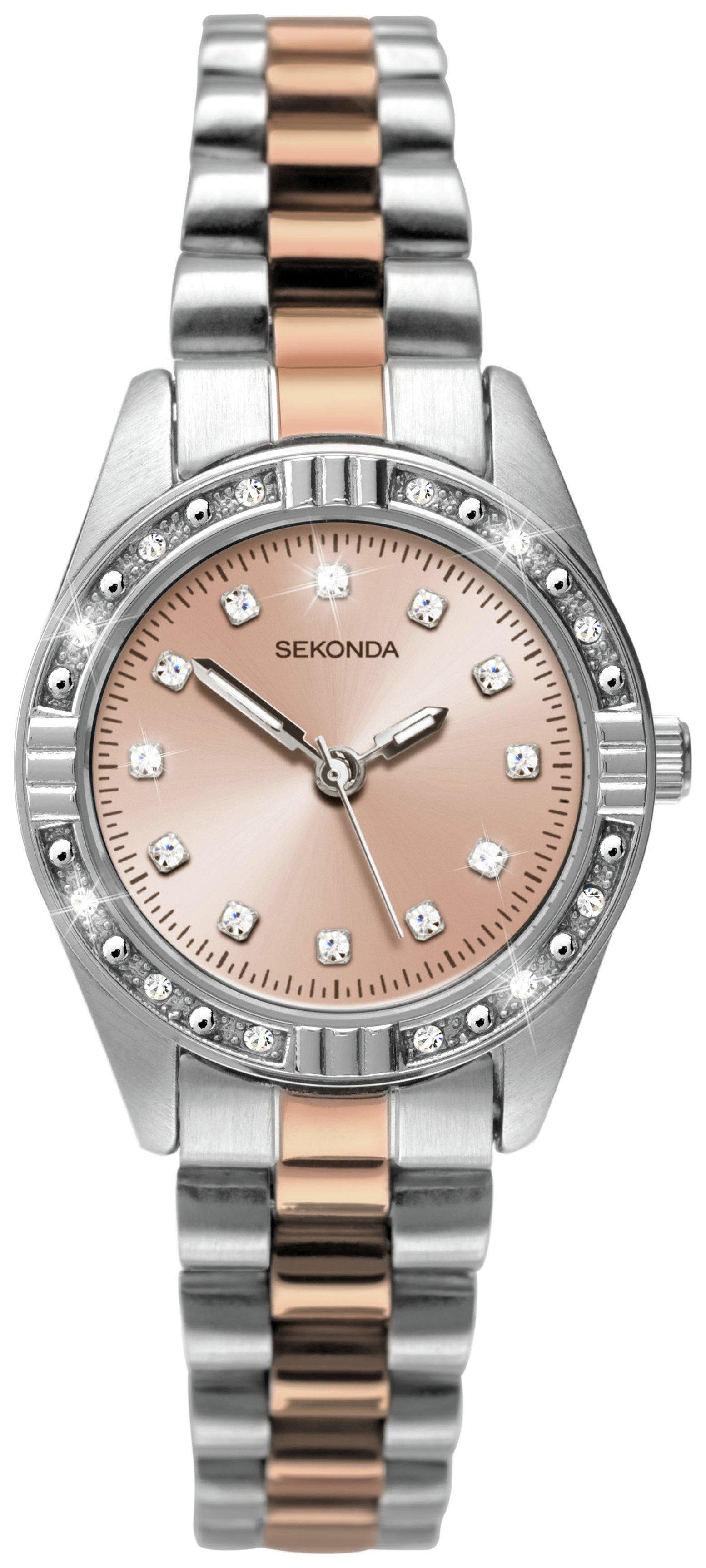 Buy Sekonda La s Rose & Silver Colour Steel Bracelet Watch at