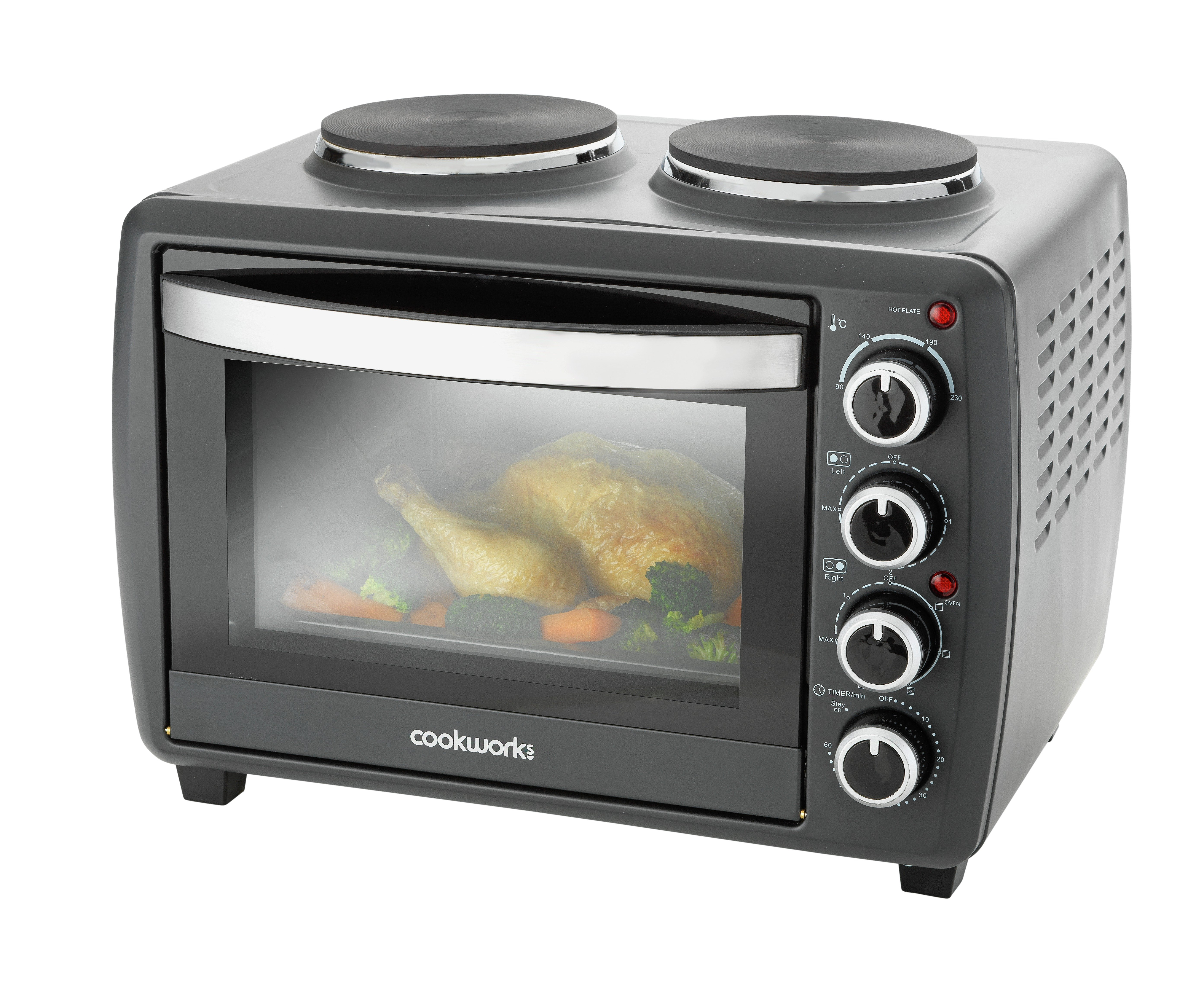 Cookworks 28L Mini Oven with Hob