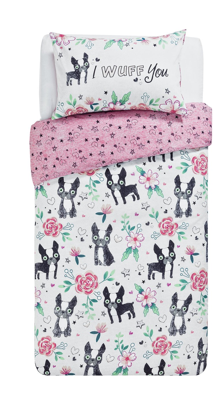 home wuff you bedding set  single