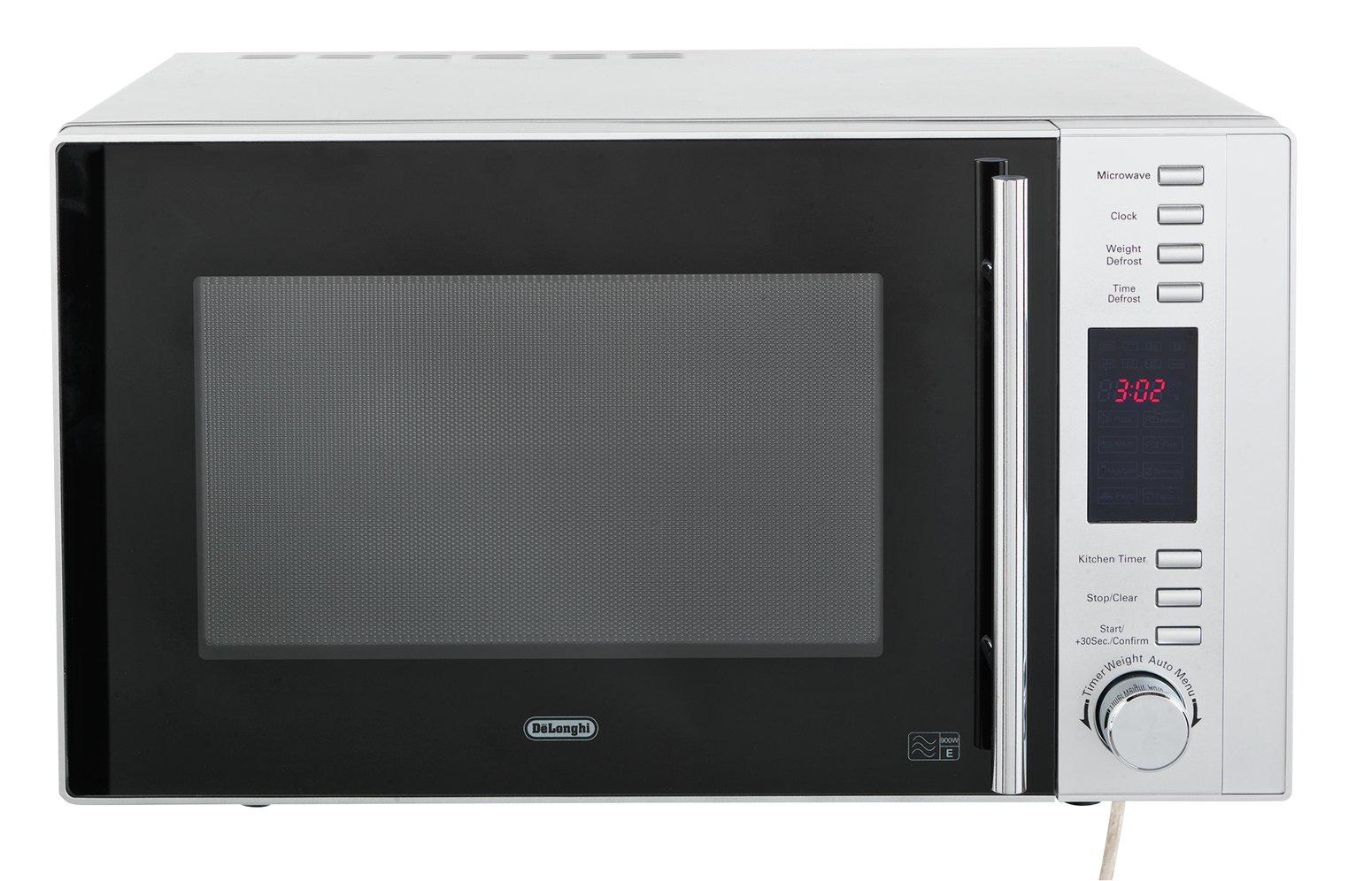 De'Longhi 900W Standard Microwave AM925EBL - Silver