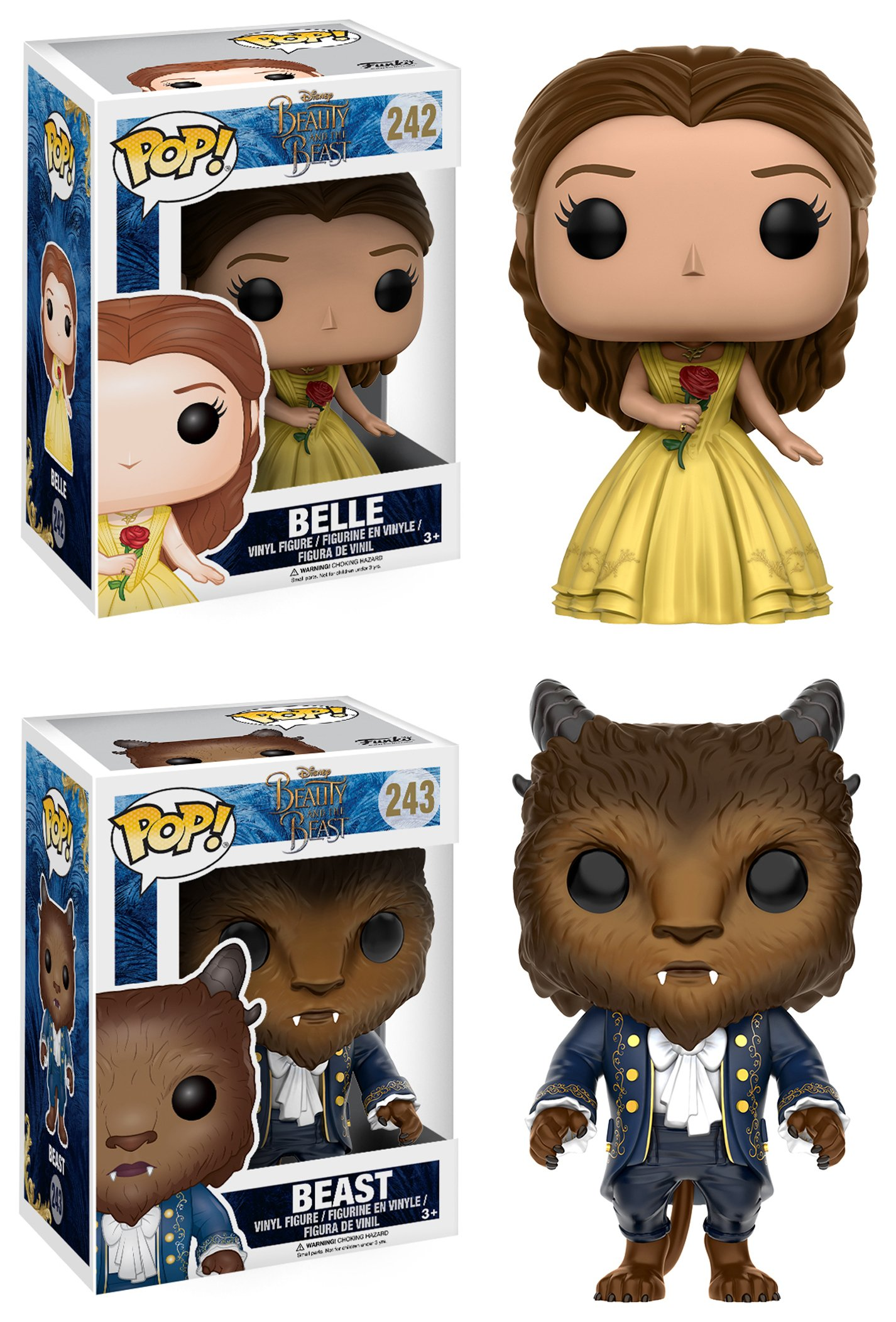 Pop! Vinyl Beauty and the Beast Head Gift Set.