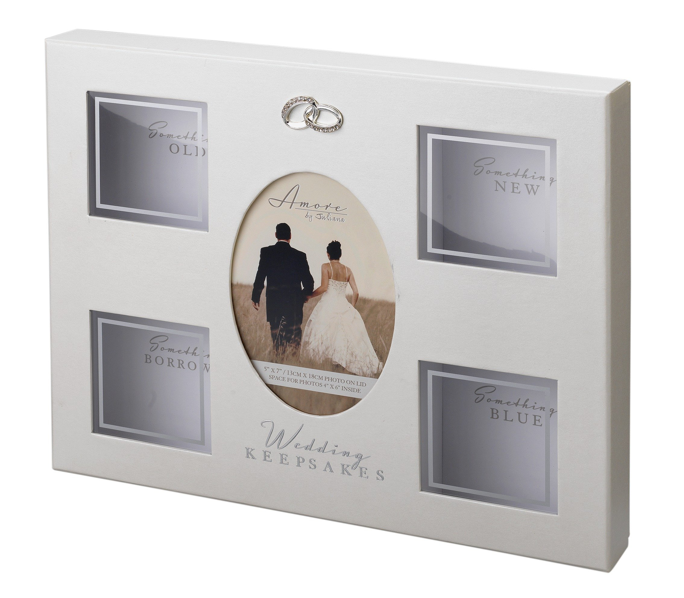 Image of Amore Wedding Keepsake Box with 4 Compartments