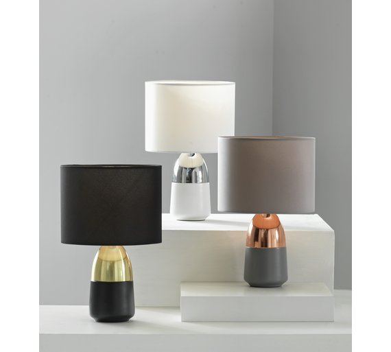 Buy argos home duno touch table lamp black brass table lamps click to zoom aloadofball Images