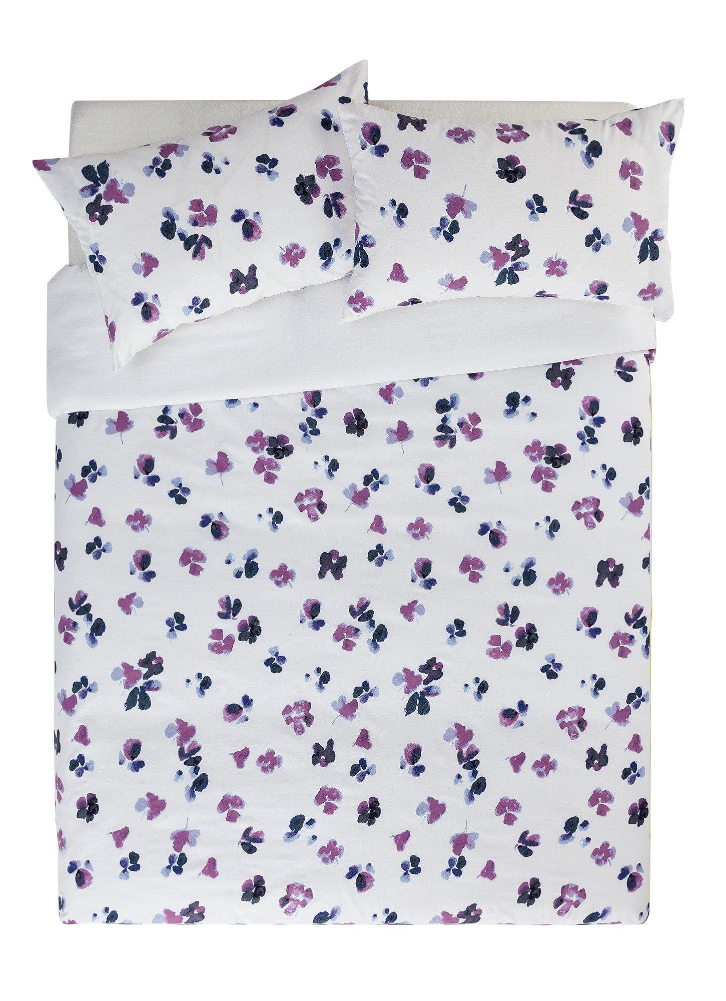 home petals painted floral bedding set  kingsize