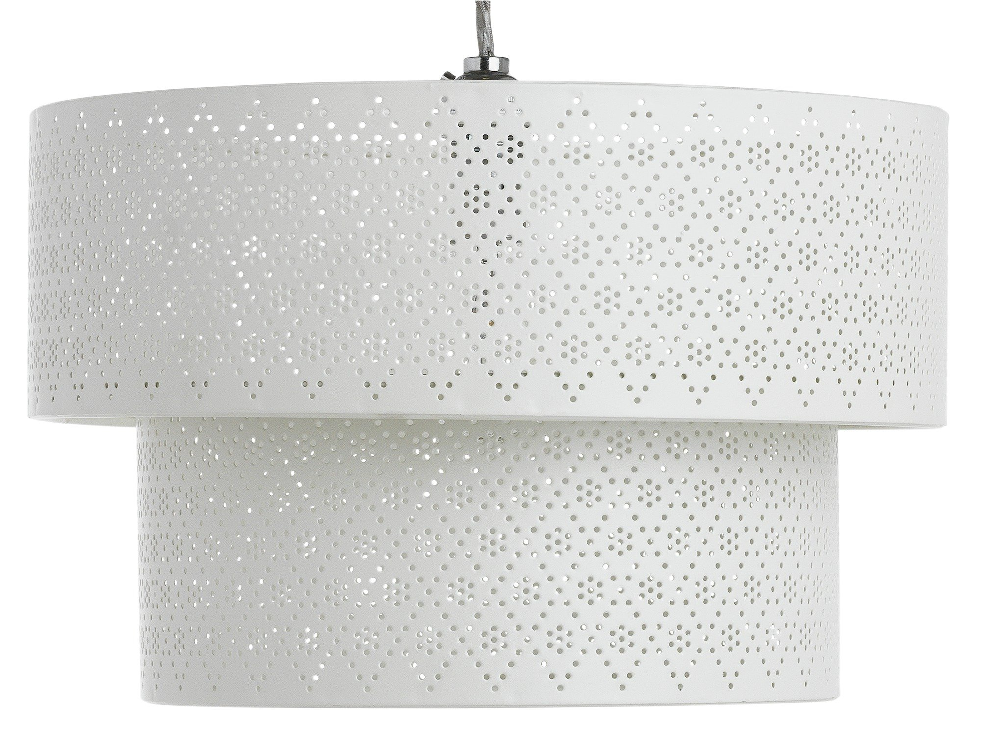 Collection Lacey 2 Tier Metal Drum Shade - Cream