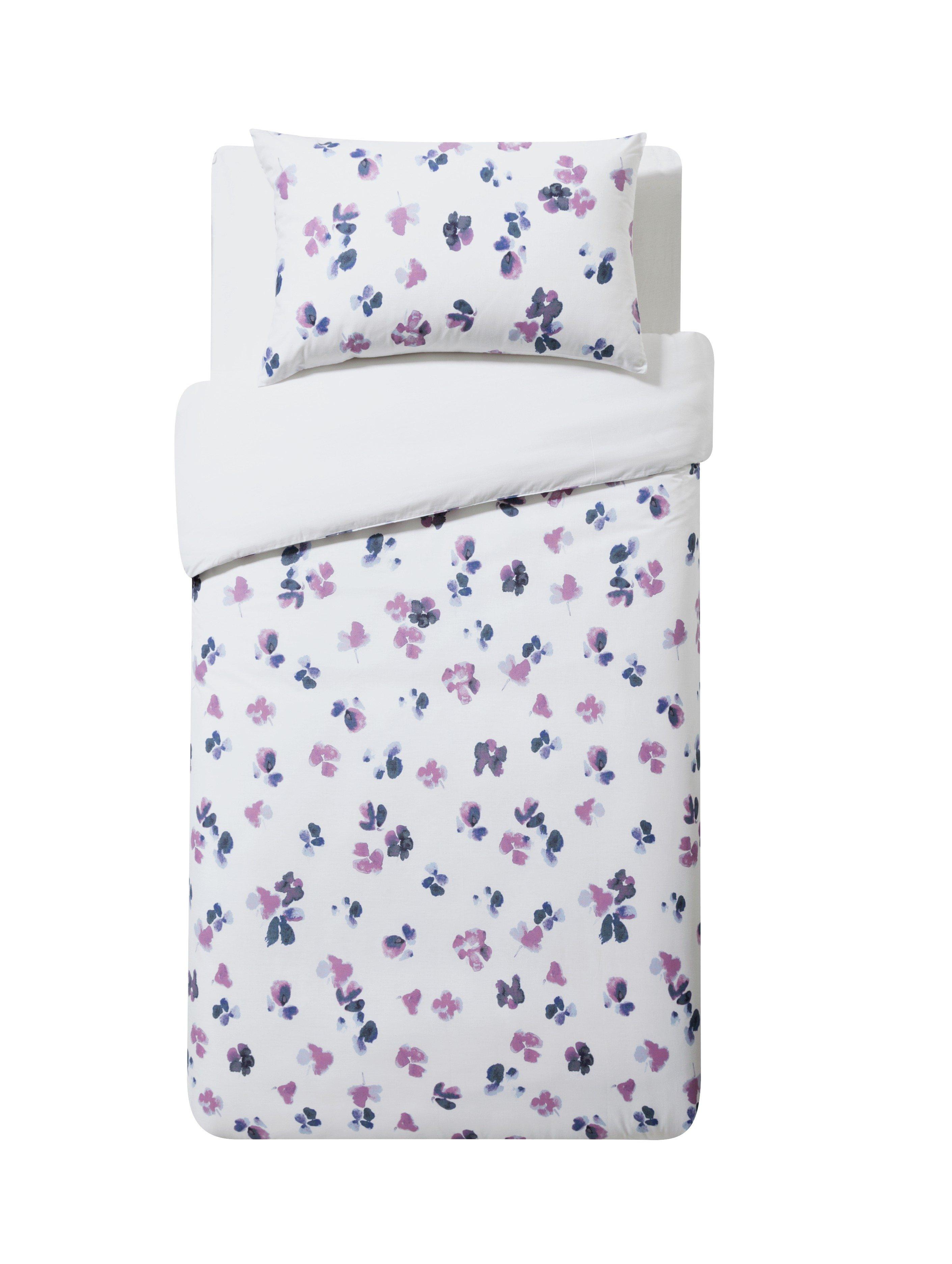 home petals painted floral bedding set  single