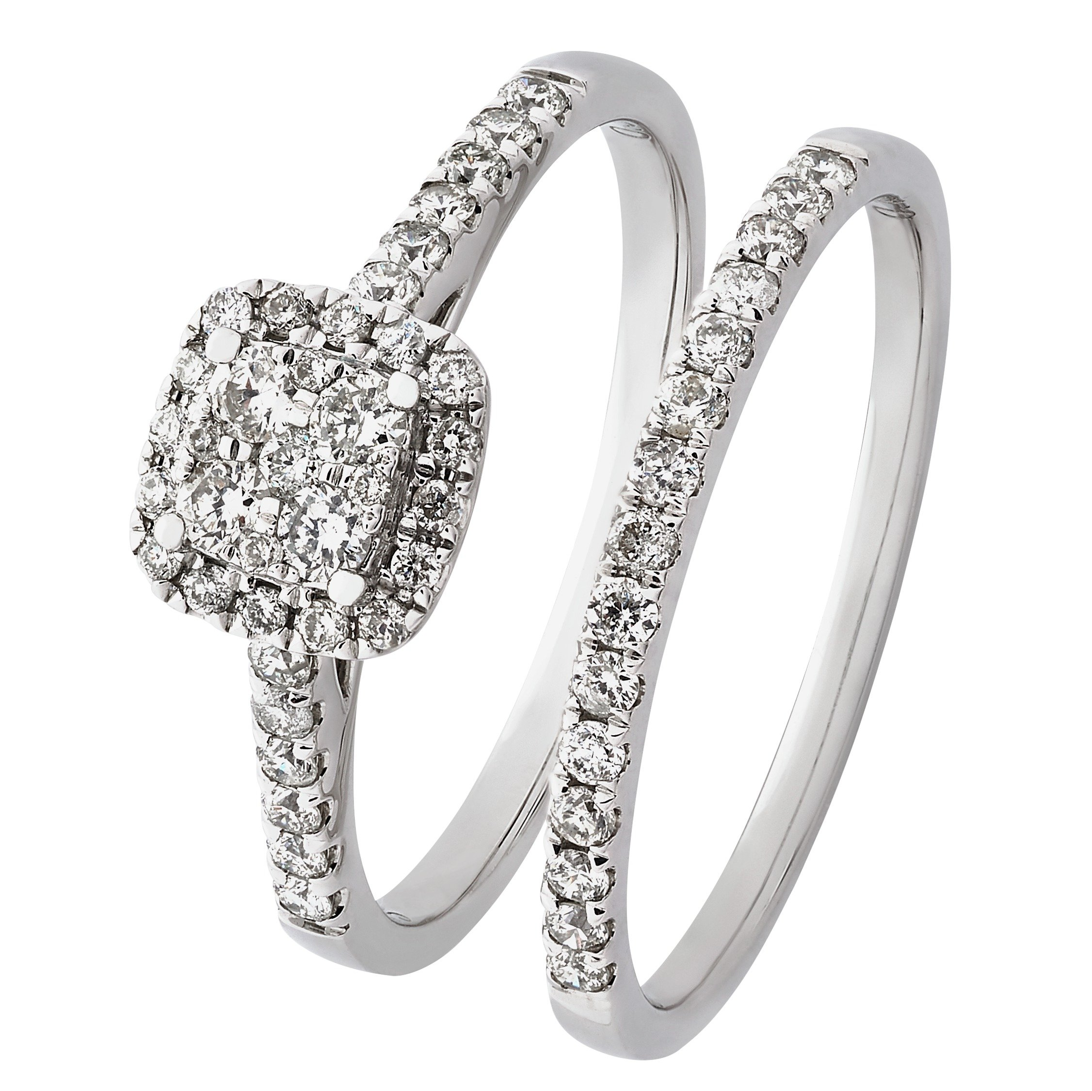 Revere Revere 9ct White Gold 0.50ct tw Diamond Bridal Ring Set