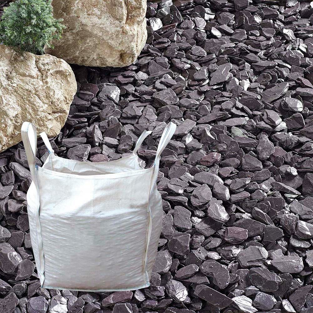 The Real Gravel Company's Plum Slate Chippings - 40mm