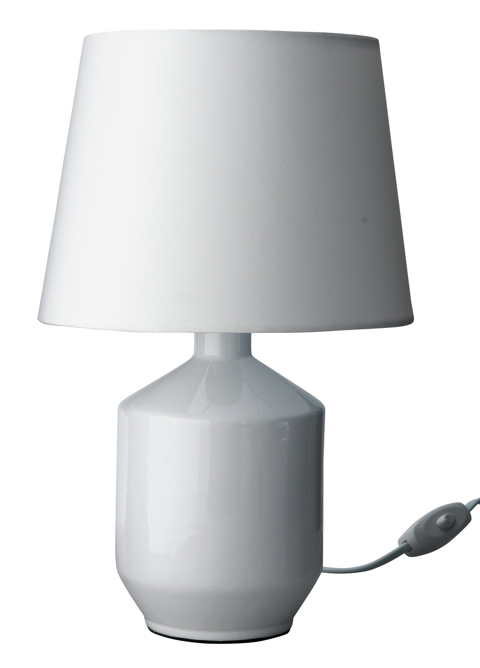 Image of ColourMatch Ceramic Table Lamp - Super White