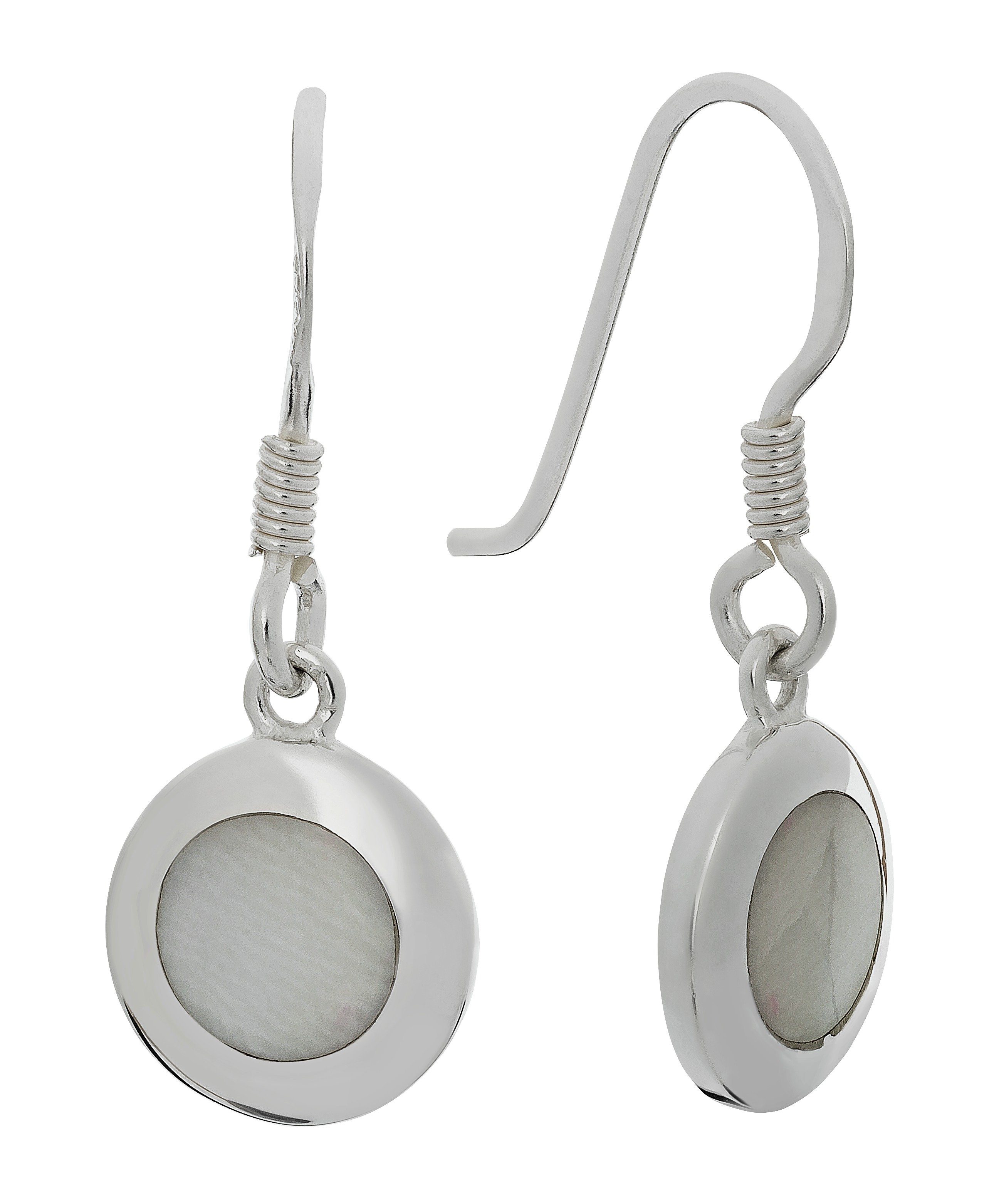 Revere Sterling Silver White Mother of Pearl Drop Earrings