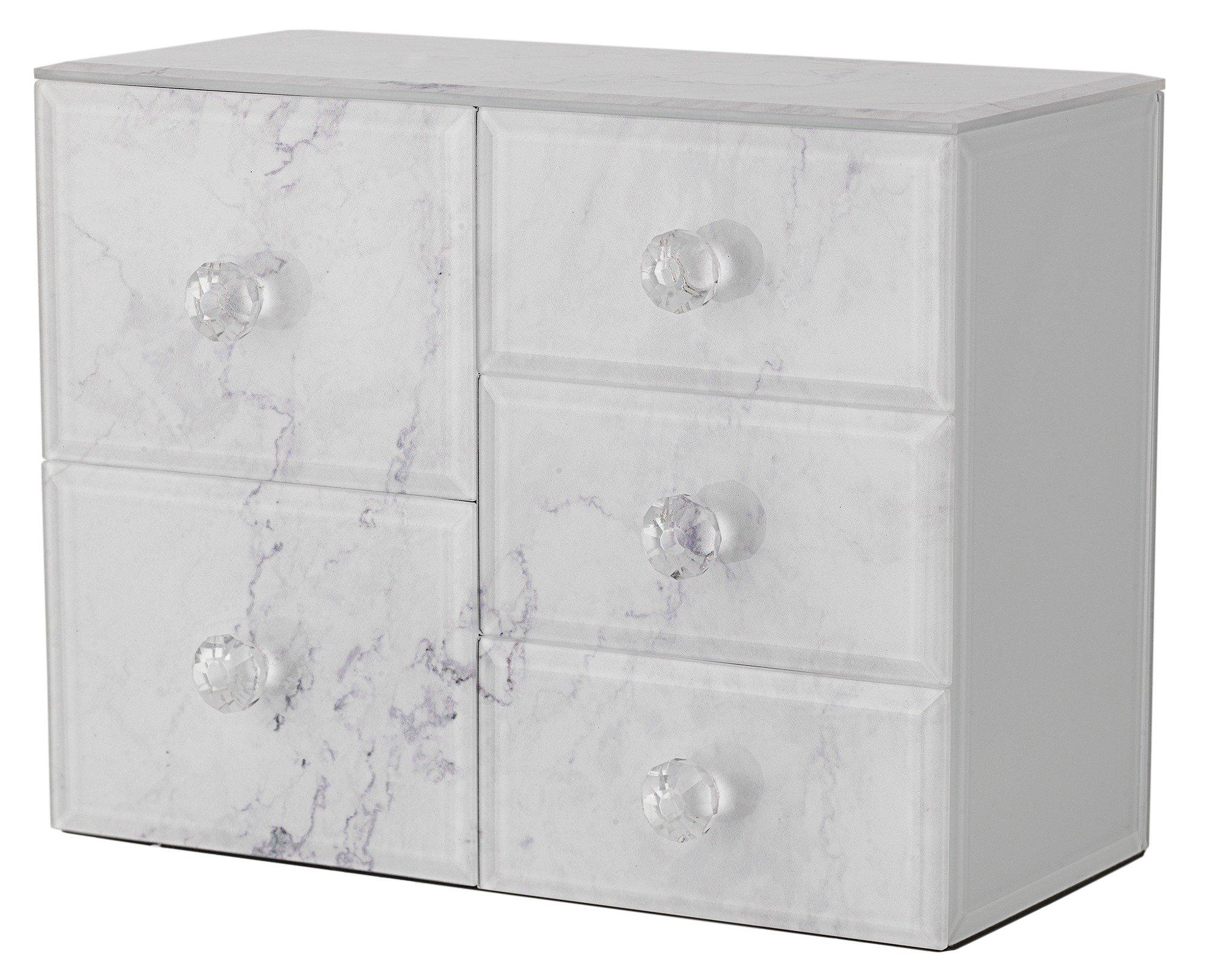 Medium Glass Marble Effect Jewellery Box