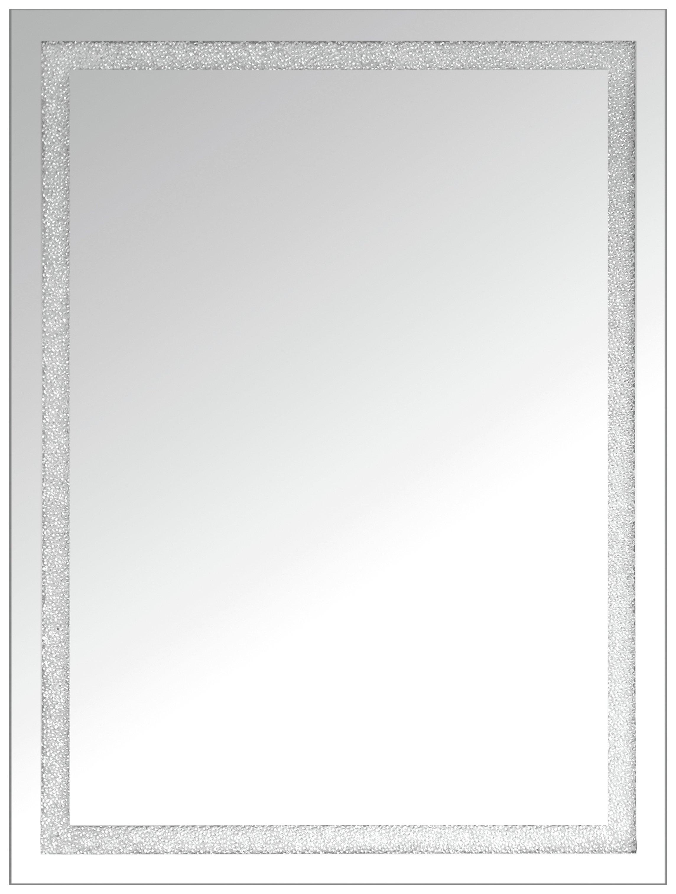 Beaded Crystal Mirror.