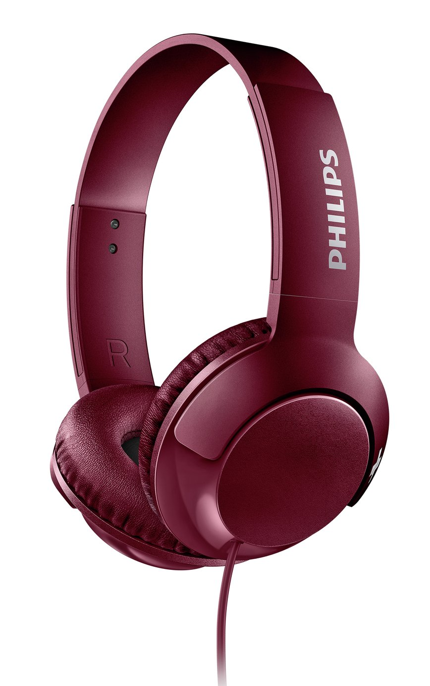 Philips SHL3070 On-Ear Headphones - Maroon