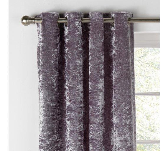 Argos Home Cara Velvet Lined Curtains