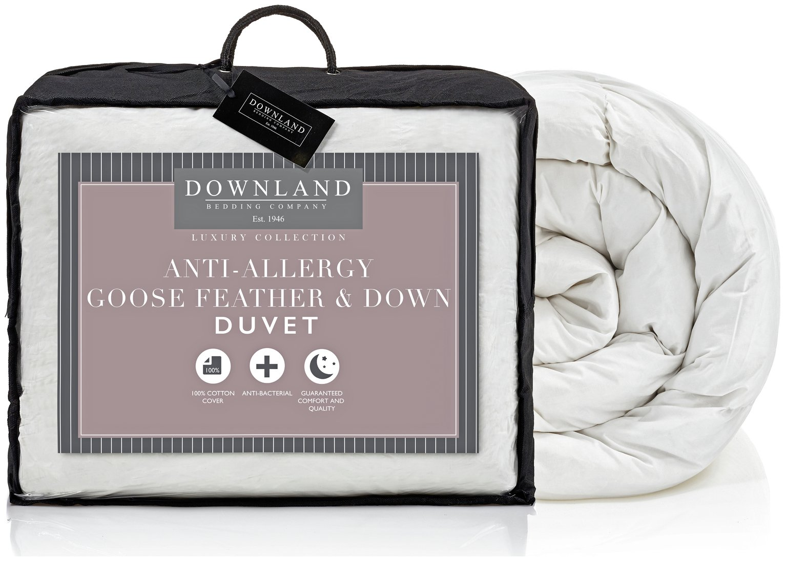 downland goose feather and down 13.5 tog duvet  superking