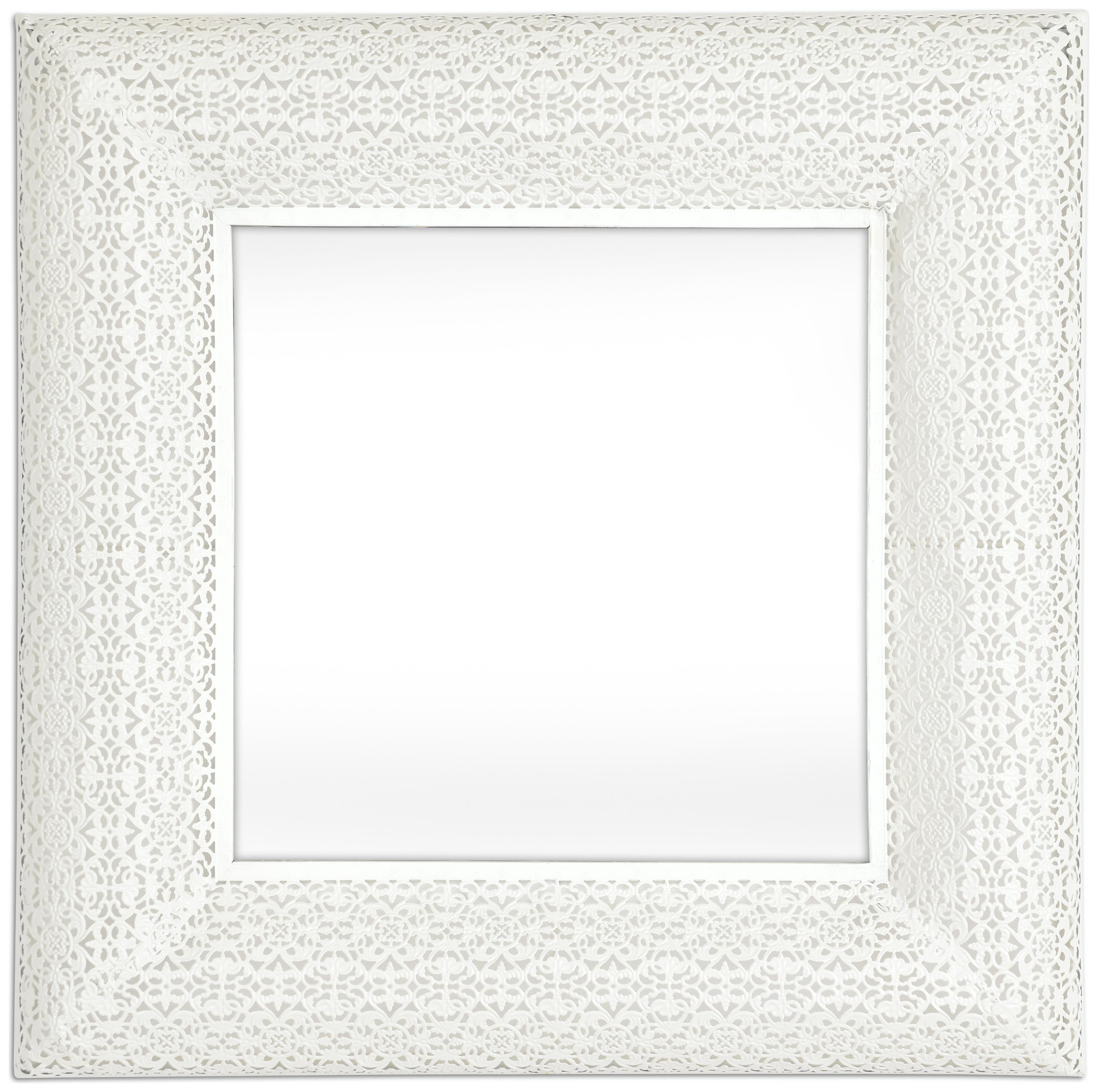 Marrakesh Square Mirror - White.