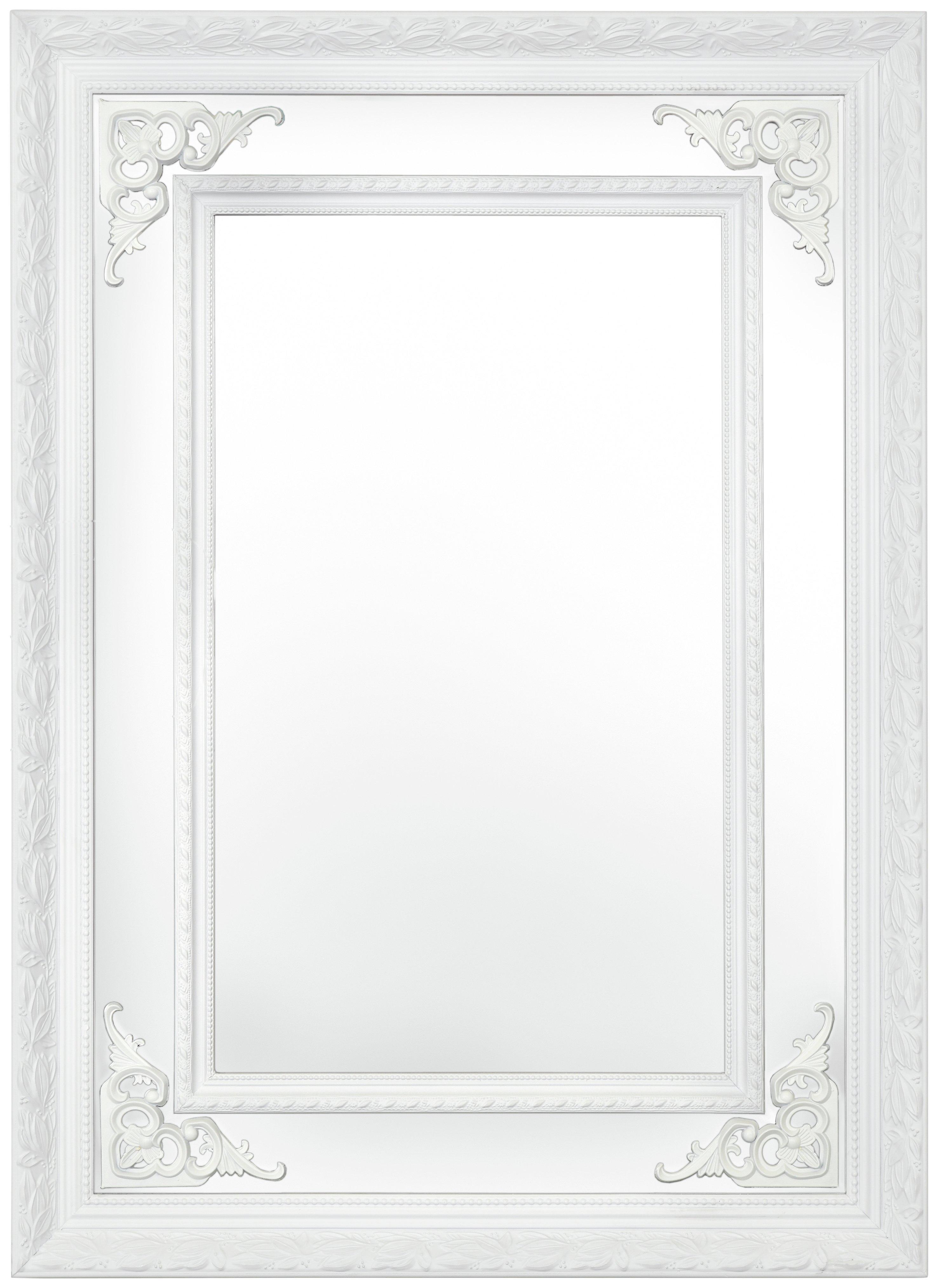 Argyle Mirror - White