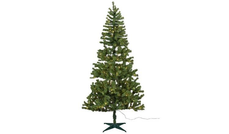 Buy Argos Home 7ft Nordland Pre Lit Christmas Tree Green Artificial Christmas Trees Argos