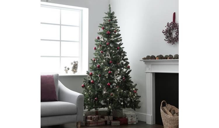 7 Ft Christmas Tree Prelit.Buy Argos Home 7ft Nordland Pre Lit Christmas Tree Green Artificial Christmas Trees Argos