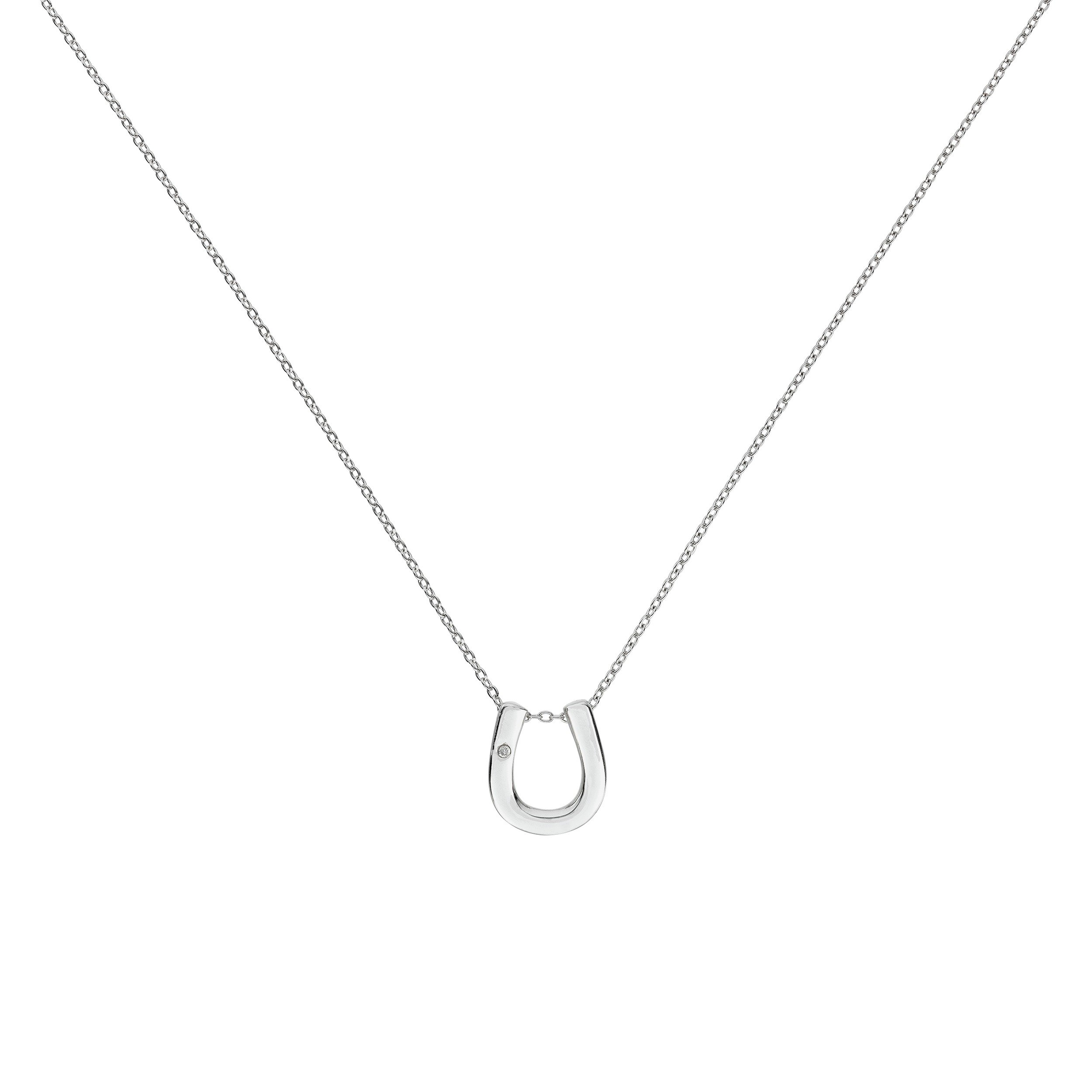 Image of Accents by Hot Diamonds Sterling Silver Horseshoe Pendant