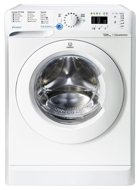 Image of Indesit BWA81283X 8KG 1200 Spin Washing Machine - White