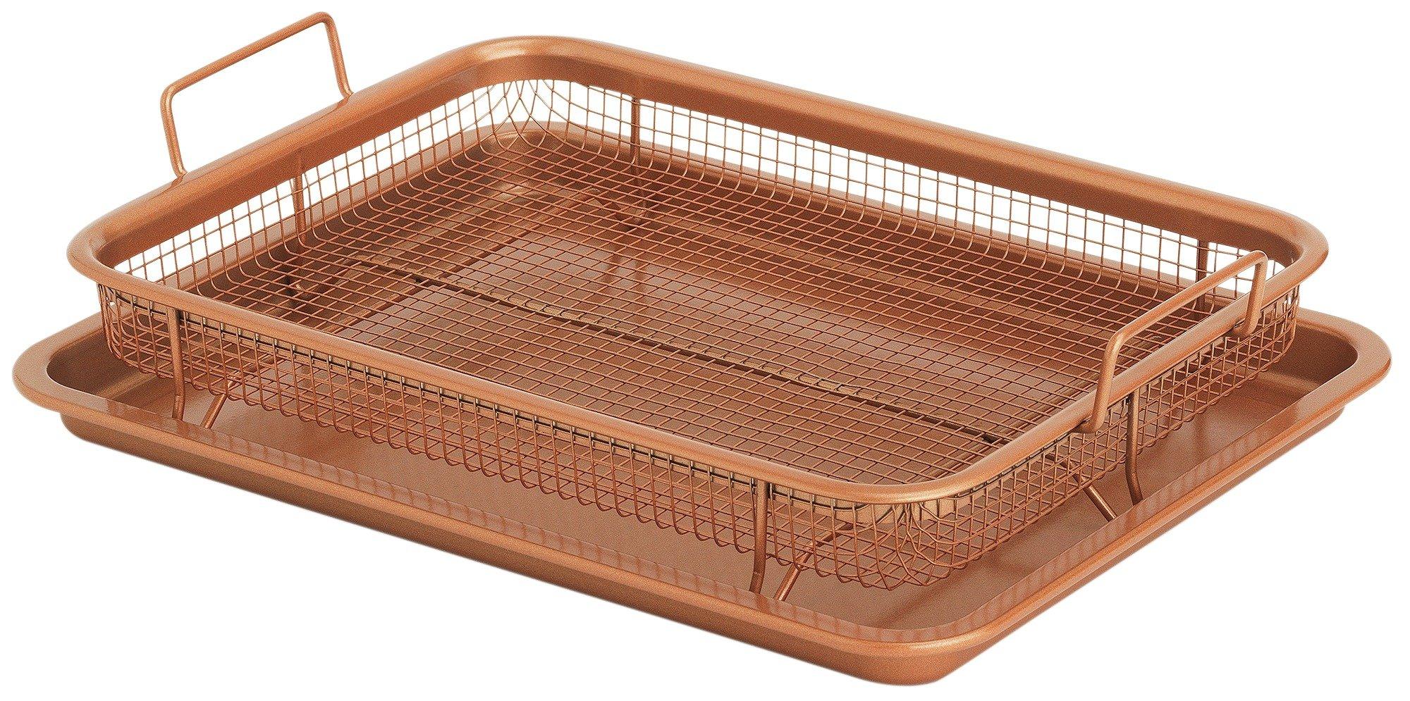 Image of Copper Chef Copper Crisper Oven Tray & Mesh Crisping Basket