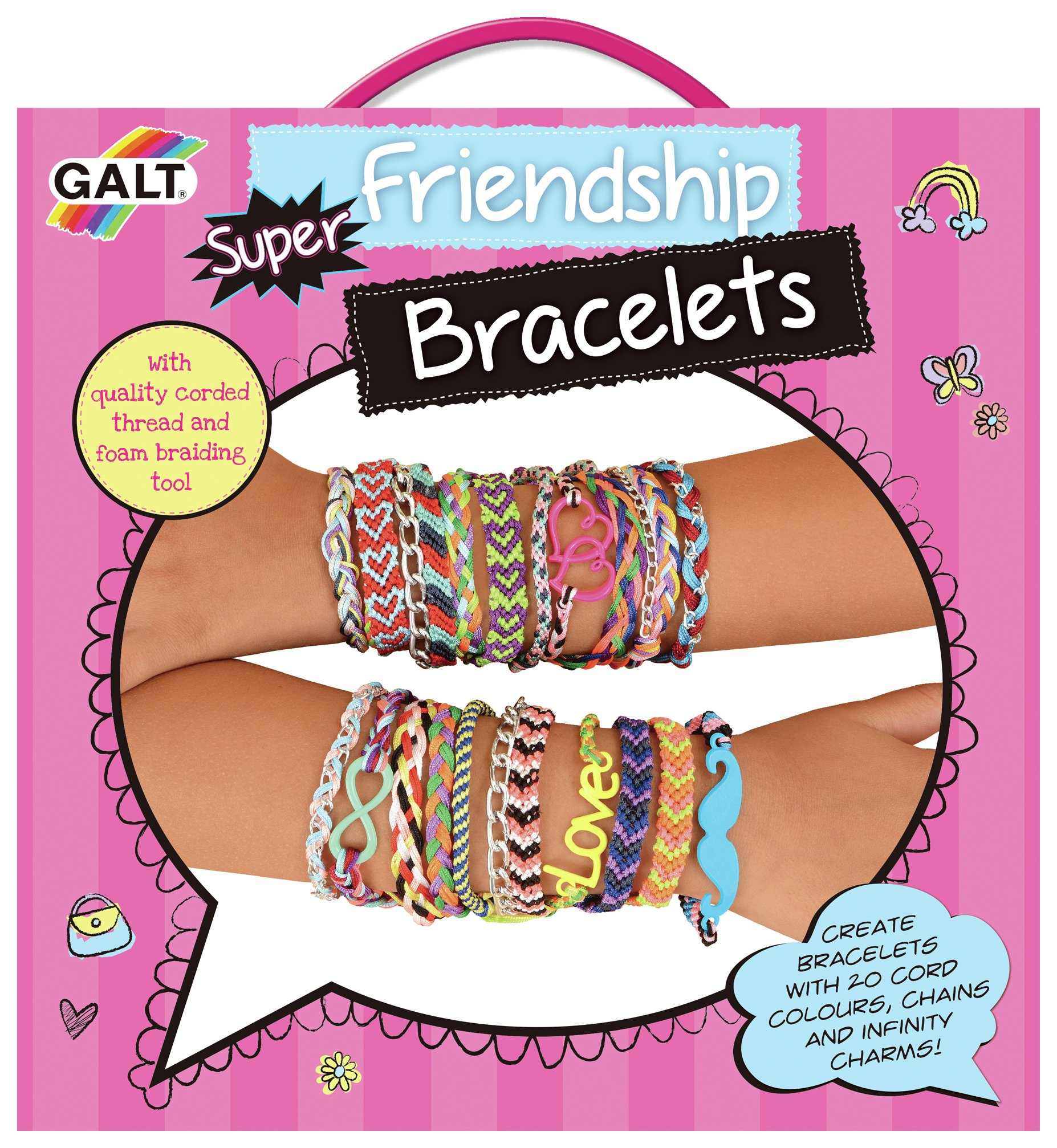 Image of Galt Toys Fashion Club Super Friendship Bracelets Kit.