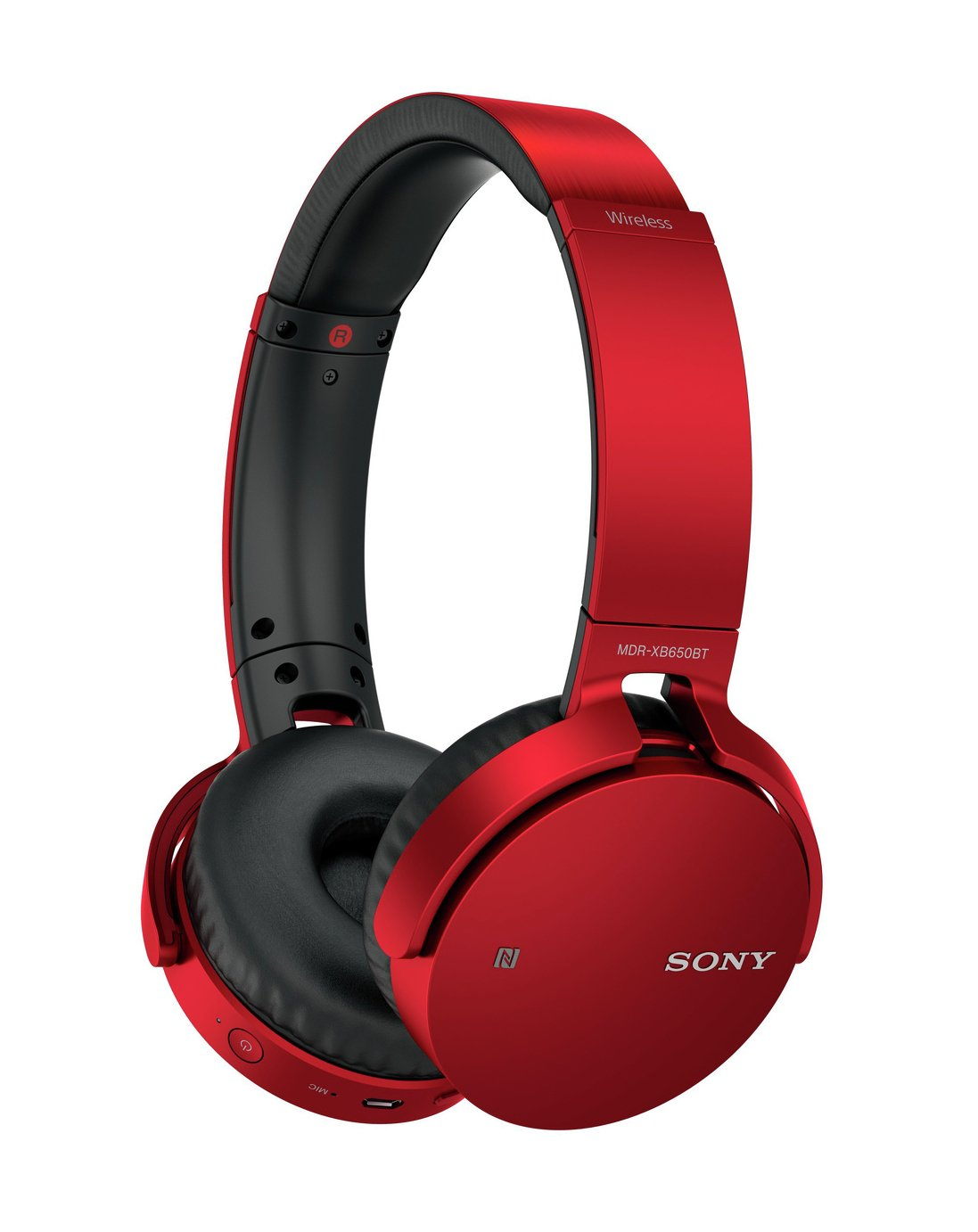 Sony MDR-XB650BT On-Ear Headphones - Red