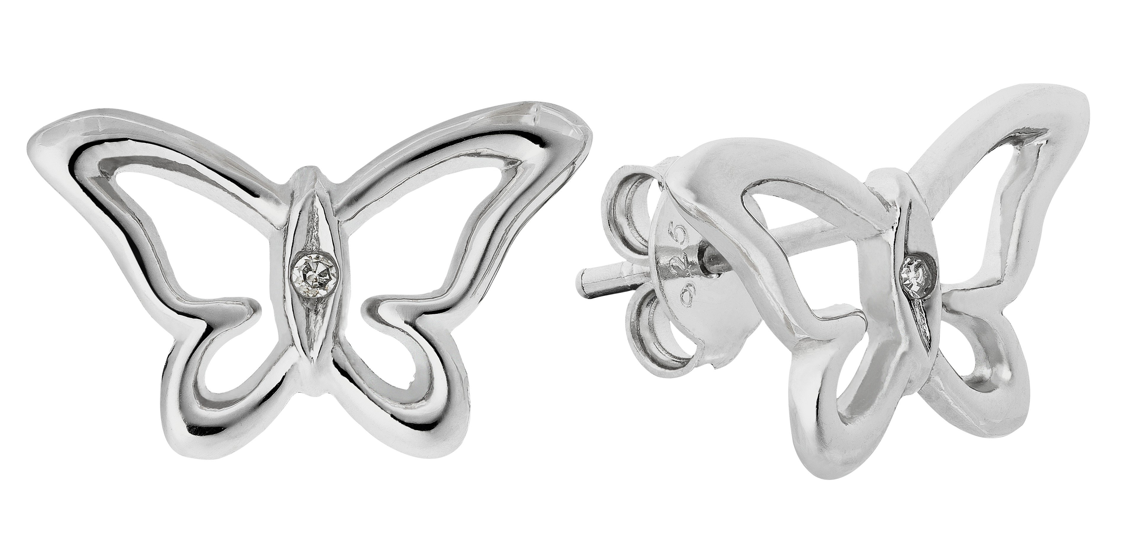 Image of Accents by Hot Diamonds Sterling Silver Butterfly Studs