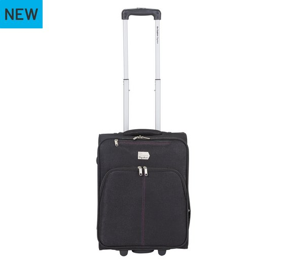 Buy Go Explore Small 2 Wheel Soft All Airline Cabin Bag - Black at ...
