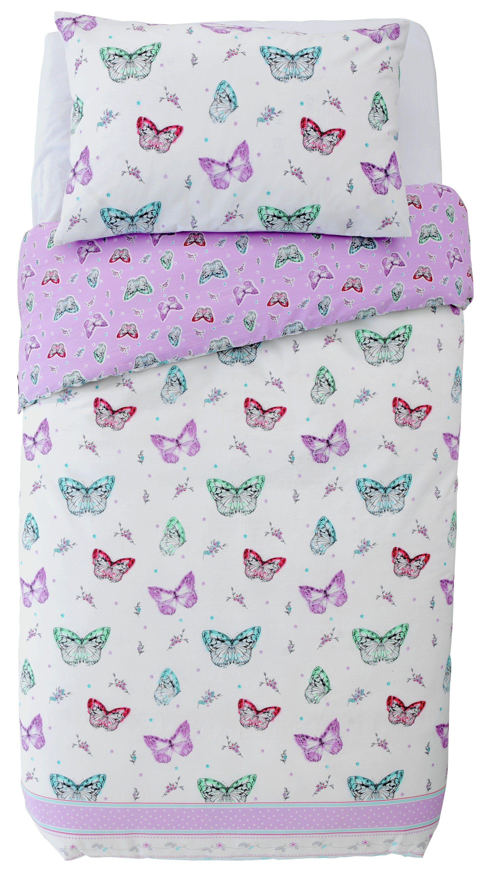 collection ditsy butterfly cotton rich bedding set  toddler