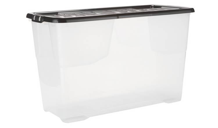 Argos Home 100 Litre Curved Plastic Storage Box And Lid