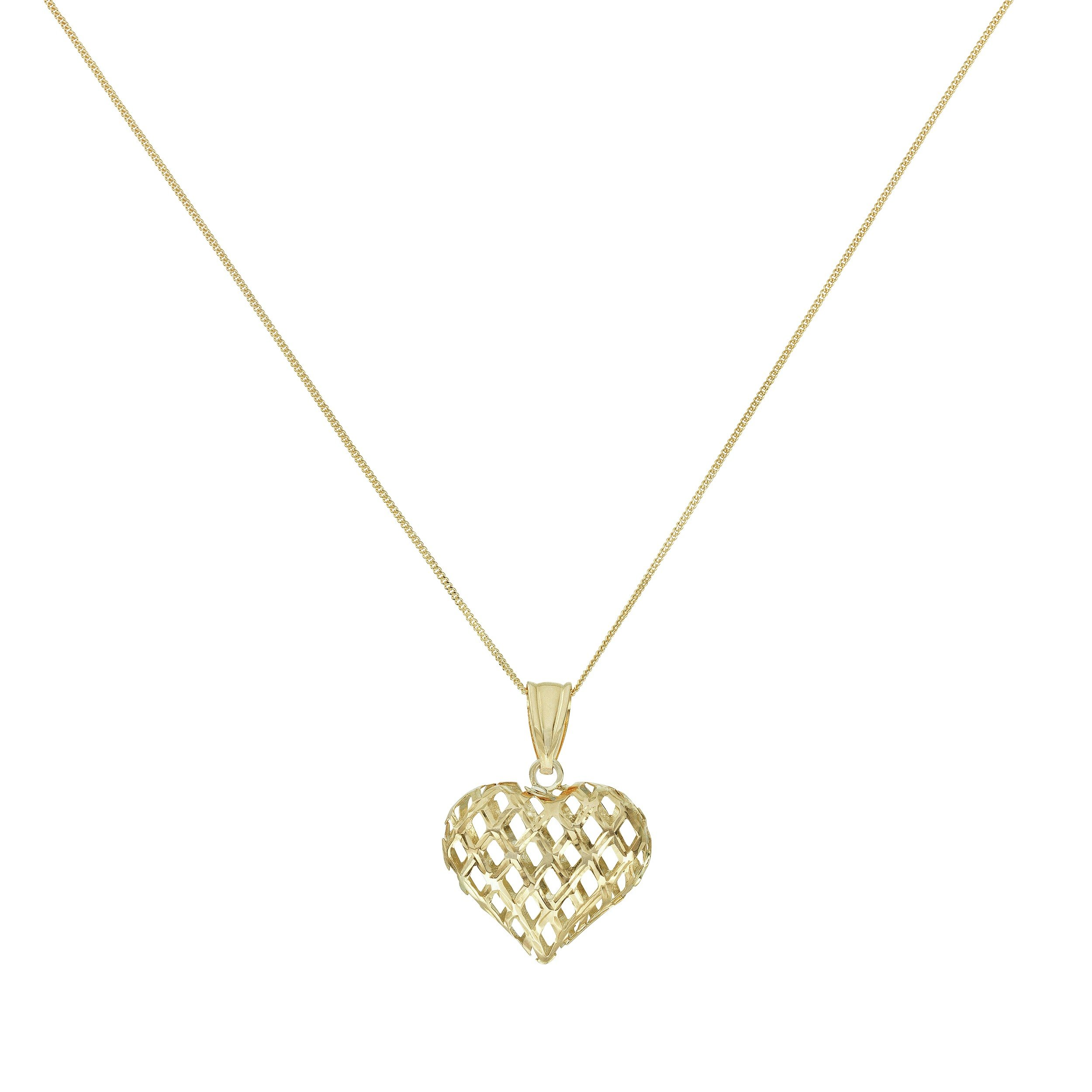Image of Revere 9ct Gold Medium Cut Out Heart Pendant