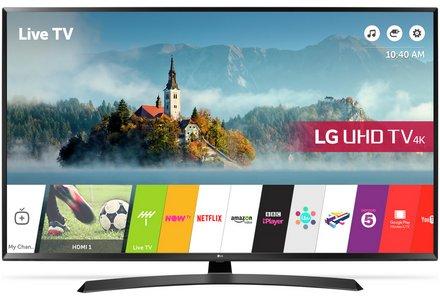 LG 43UJ635V 43 Inch Smart 4K Ultra HD TV with HDR.