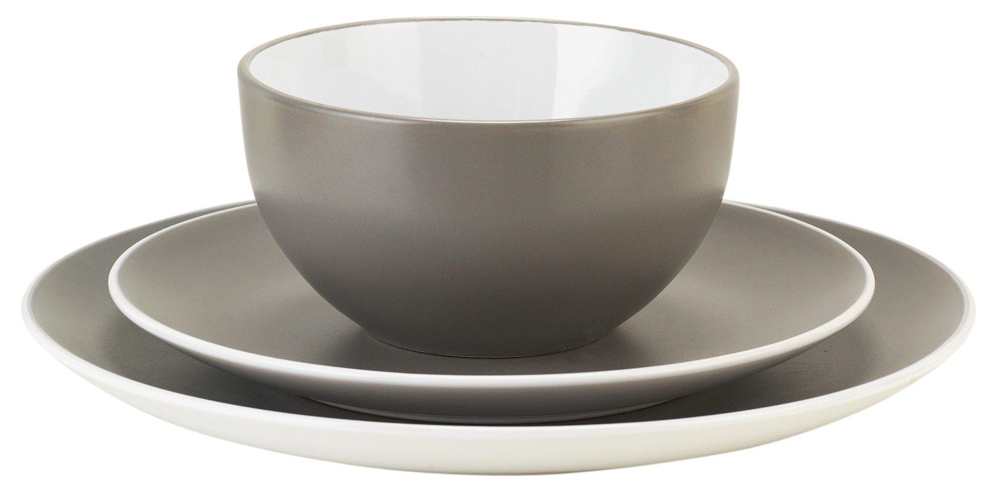 Argos Home 12 Piece Stoneware Dinner Set - Flint Grey