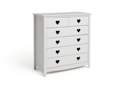 Collection New Mia 4 + 2 Drawer Chest - White.