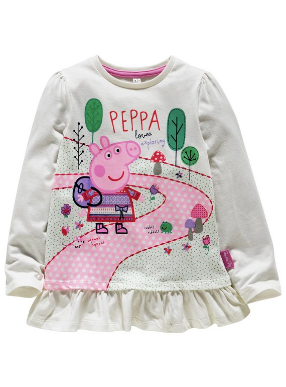 Peppa Pig Girls Dressing Gown Ages 18 Months To 8 Years