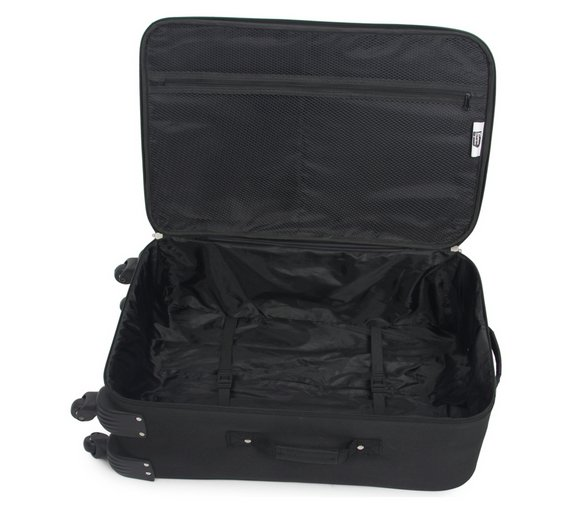 Buy Go Explore Soft 4 Wheeled Small Suitcase - Black at Argos.co ...