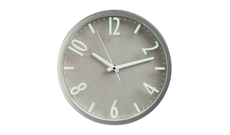 Argos Home Contemporary Wall Clock - Silver