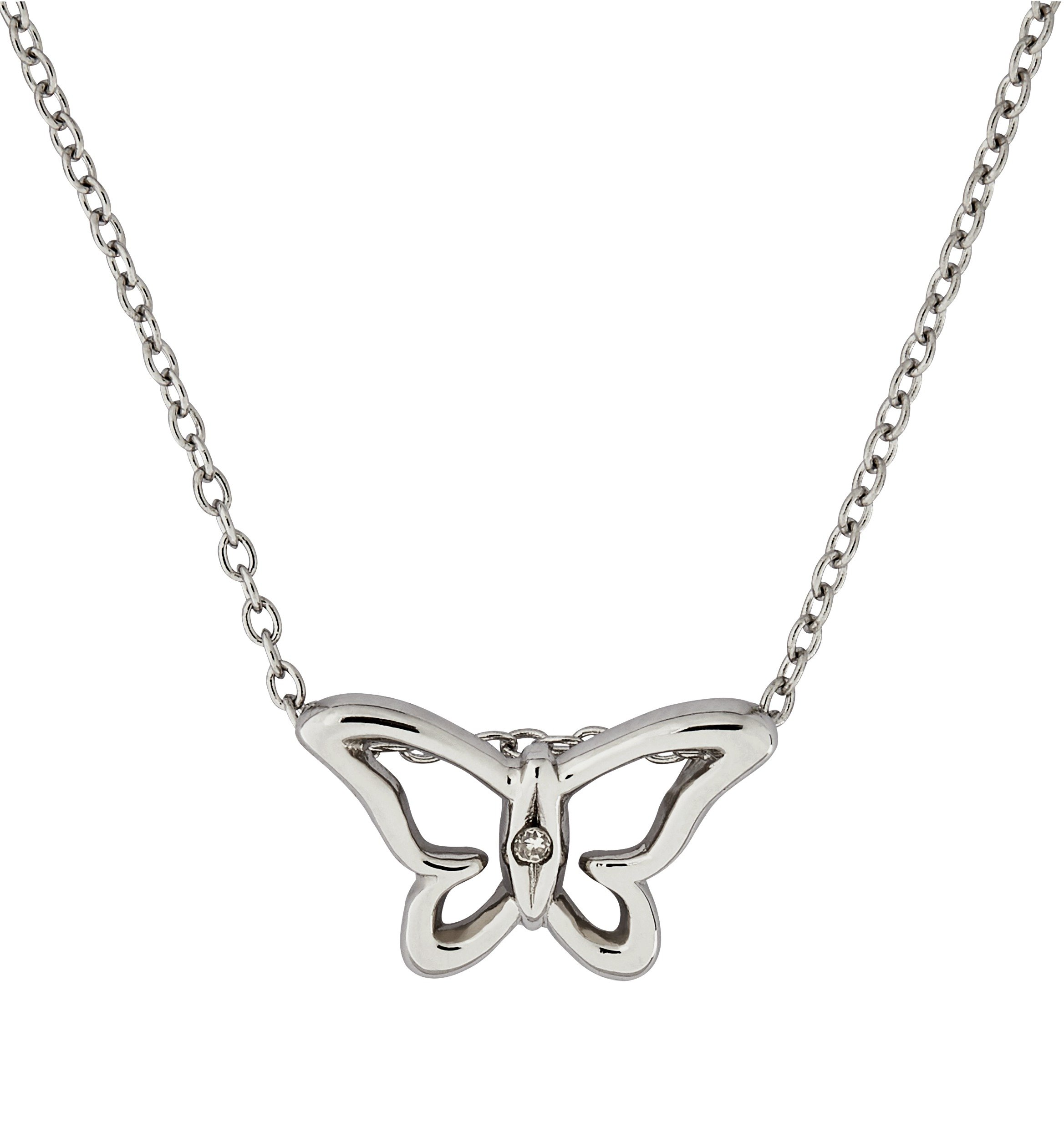 Image of Accents by Hot Diamonds Sterling Silver Butterfly Pendant