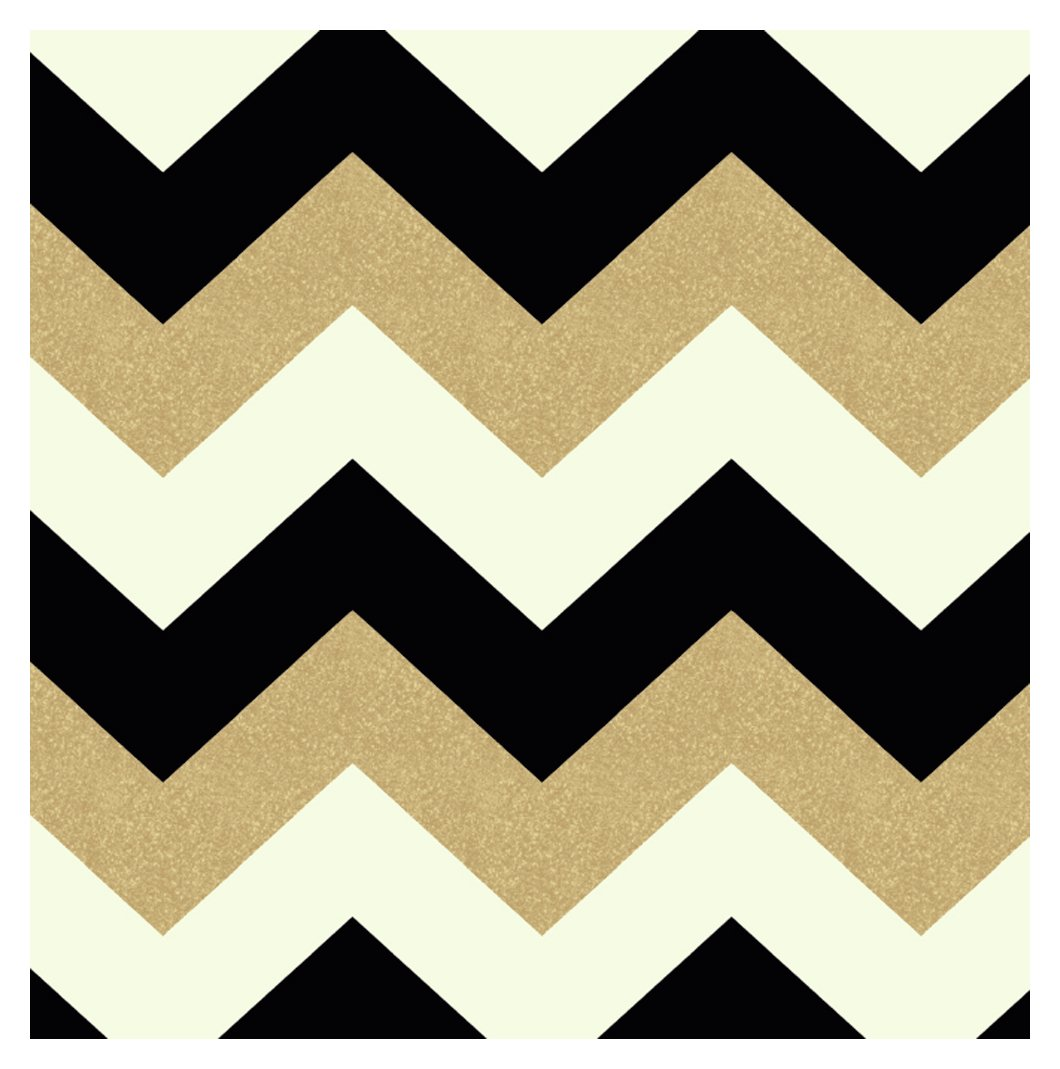 Image of Arthouse Glitterati Chevron Wallpaper - Black & Gold.