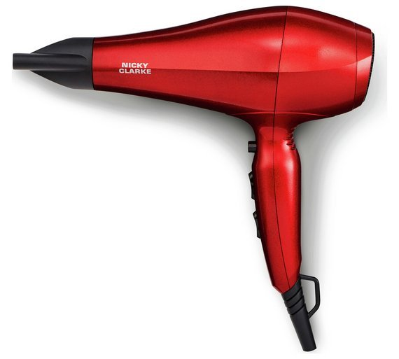 Nicky Clarke IHD189 DesiRED 2000W AC Salon Hairdryer.