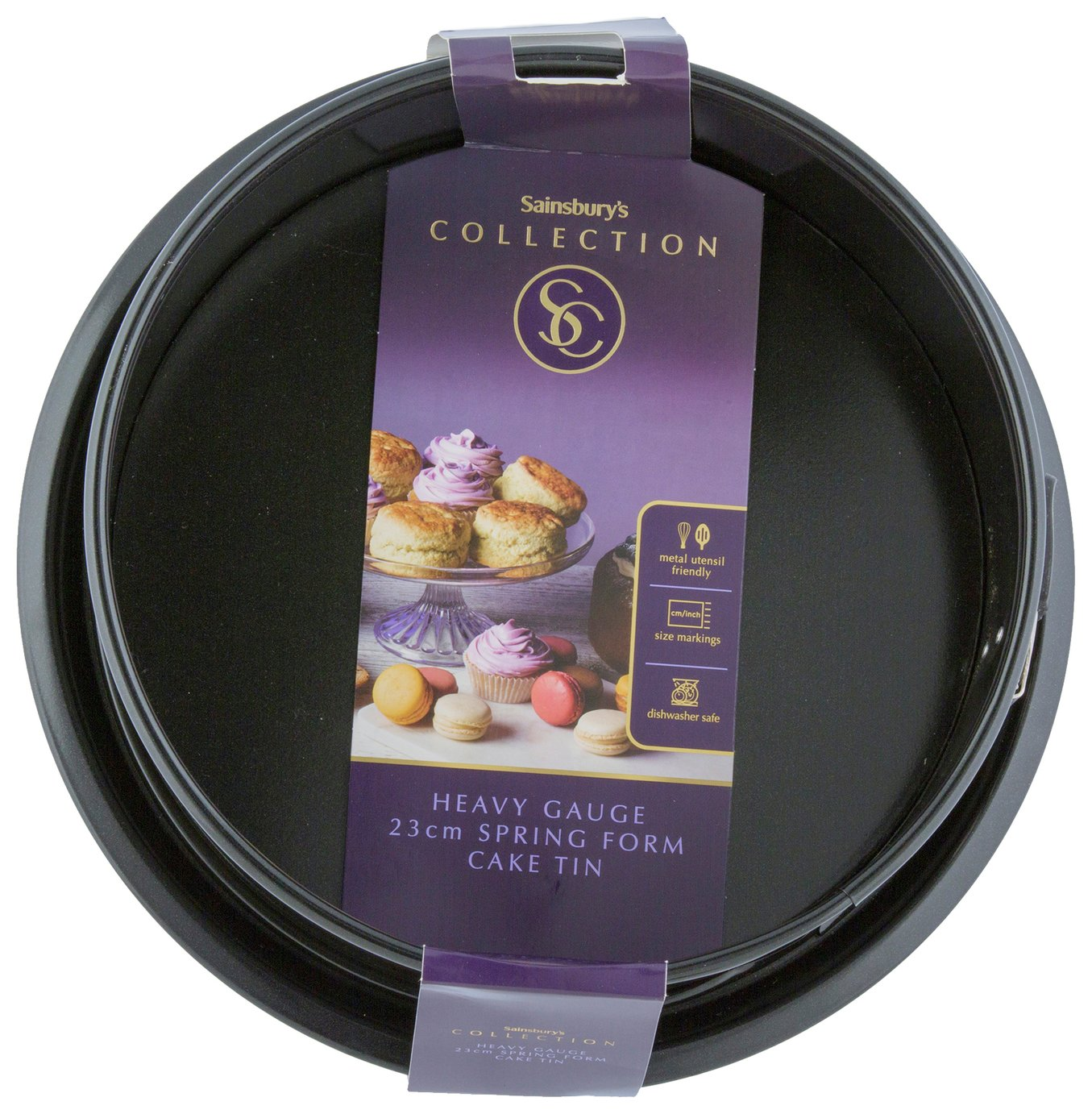 Sainsbury's Home 23cm Spring Form Cake Tin - Black