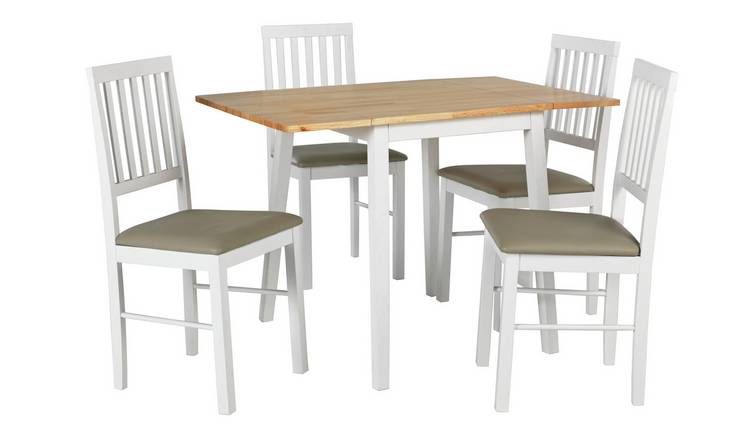 Argos Home Kendal Large Extending Table 4 Chairs Two Tone
