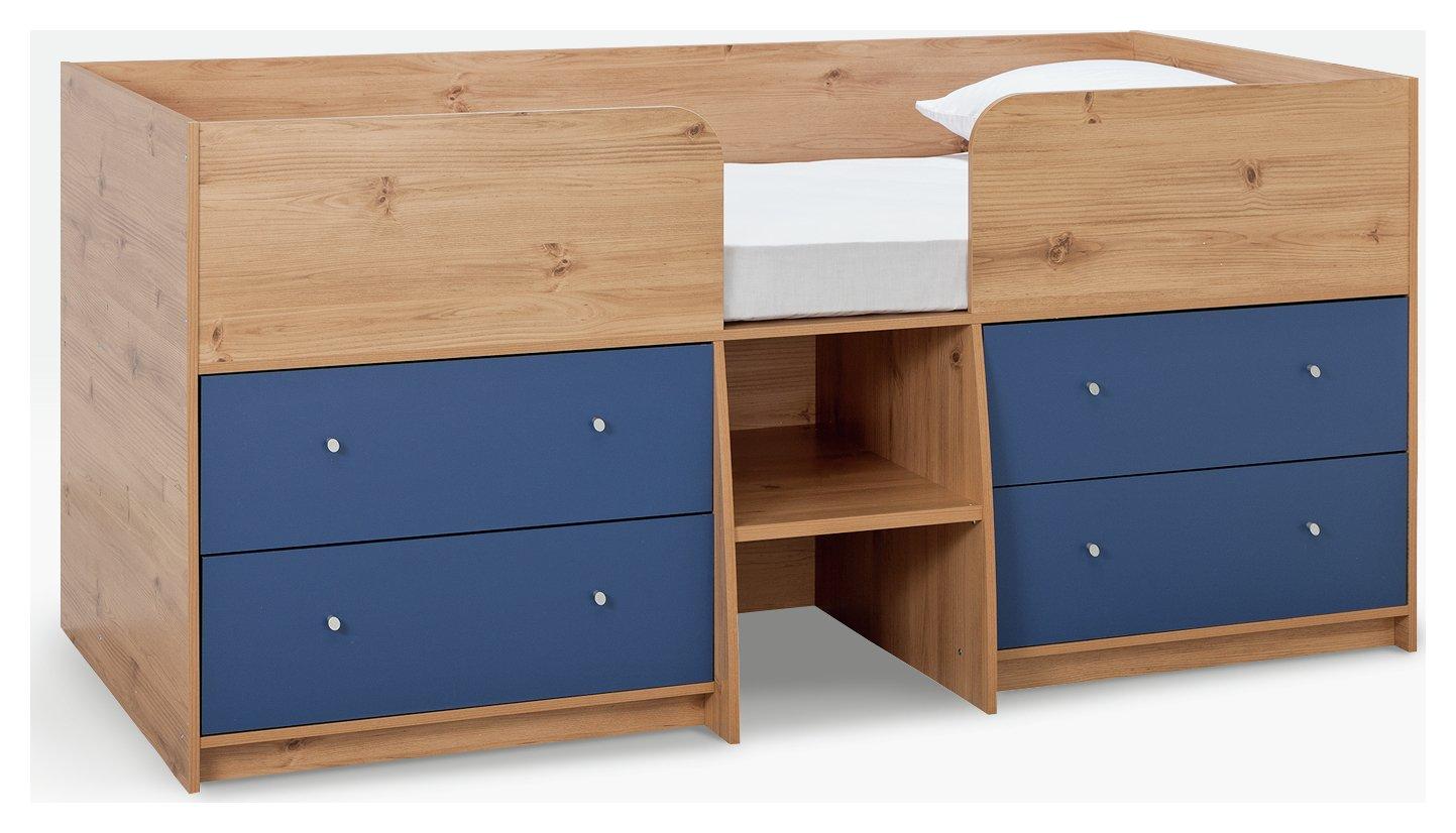 Argos Home Malibu Pine & Blue Mid Sleeper Bed Frame