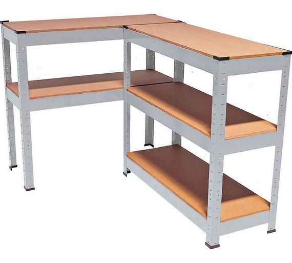 buy quick assembly 5 tier steel garage shelving storage. Black Bedroom Furniture Sets. Home Design Ideas