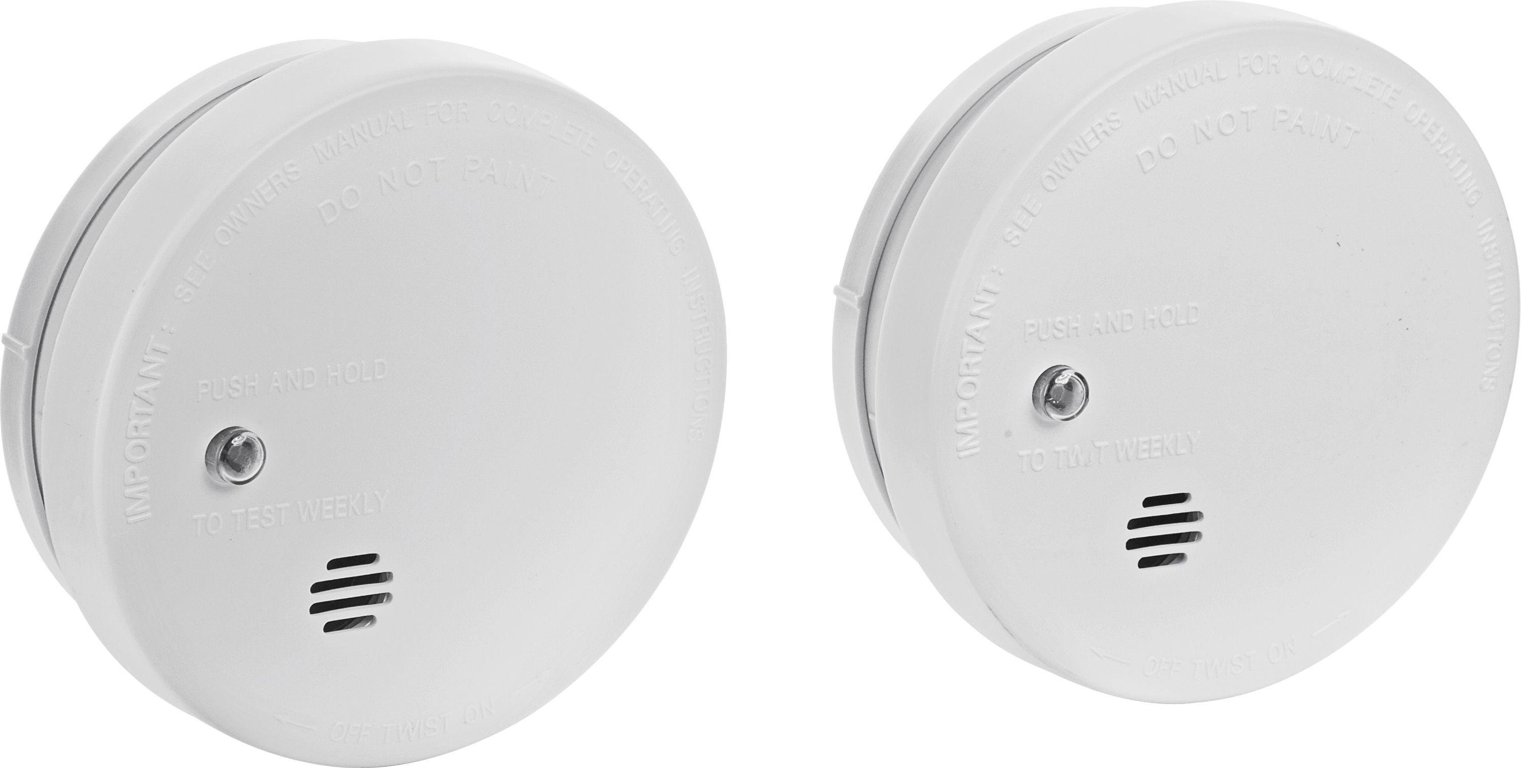 kidde micro compact smoke alarm twin pack 7001569. Black Bedroom Furniture Sets. Home Design Ideas